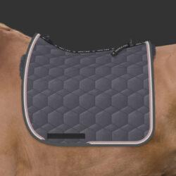 Slate Velour engelsk dressur str. L med EWWA spine free, og saddle-fix®️